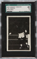 "Boxing Cards:General, Circa 1910 T100 Honest Silhouettes ""Boxing"" SGC 40 VG 3...."