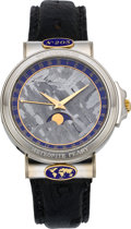 Timepieces:Wristwatch, Corum Meteorite Peary, No. 205, Interesting White Gold Wristwatch With Date & Moon Phases, circa 1990's. ...