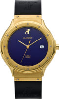 Timepieces:Wristwatch, Hublot MDM Gent's 18K Gold Wristwatch, circa 2000. ...