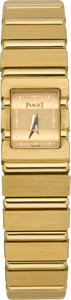 Timepieces:Wristwatch, Piaget Lady's Gold Polo Wristwatch, circa 1990's. ...