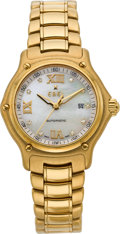 Timepieces:Wristwatch, Ebel Gold 1911 With Mother-of-Pearl Dial, circa 2002. ...