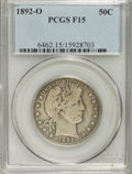Barber Half Dollars: , 1892-O 50C F15 PCGS. PCGS Population (7/229). NGC Census: (2/197).Mintage: 390,000. Numismedia Wsl. Price for NGC/PCGS coi...