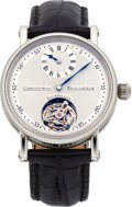 Timepieces:Wristwatch, Chronoswiss Fine Stainless Steel Tourbillon Wristwatch With Regulator Dial, circa 2000. ...