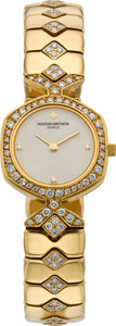 Timepieces:Wristwatch, Vacheron Constantin Lady's Fine Gold & Diamond Bracelet Watch, circa 1980's. ...