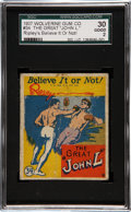 """Non-Sport Cards:Singles (Pre-1950), 1937 Wolverine Gum Ripley's Believe It or Not """"The Great John L"""" #34 SGC 30 Good 2. ..."""