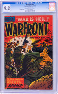 Golden Age (1938-1955):War, Warfront #11 File Copy (Harvey, 1952) CGC NM- 9.2 Cream tooff-white pages....