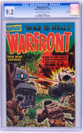 Golden Age (1938-1955):War, Warfront #12 File Copy (Harvey, 1952) CGC NM- 9.2 Cream tooff-white pages....