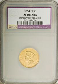 1854-O $3 --Improperly Cleaned--NCS. XF Details....(PCGS# 7971)