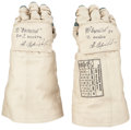 Explorers:Space Exploration, Russian Orlan-DM EVA Spacesuit Gloves, Signed by CosmonautAleksandr Serebrov.... (Total: 2 Items)