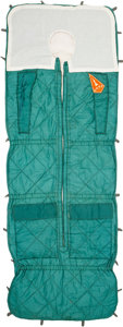 Explorers:Space Exploration, Soyuz Flown Sleeping Bag, Signed by Cosmonaut. ...