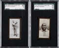Boxing Cards:General, 1925 Magnums Cigarettes Jack Johnson SGC-Graded Pair (2)....