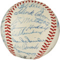 Autographs:Baseballs, 1955 National League All-Star Team Signed Baseball....