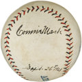 Autographs:Baseballs, 1921 Connie Mack Signed Baseball....