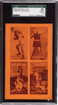Boxing Cards:General, 1920's Postcard With Dempsey/Kansas/Harris/Groh SGC 50 VG/EX 4....