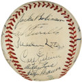 Autographs:Baseballs, 1952 Brooklyn Dodgers Team Signed Baseball....
