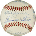 Autographs:Baseballs, Circa 1955 Hall of Famers Multi-Signed Baseball with Cobb, Foxx....