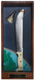 "Explorers:Space Exploration, Case Limited Edition ""Astronaut's Knife - M-1"" in Display Case...."