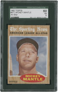Baseball Cards:Singles (1960-1969), 1962 Topps Mickey Mantle #471 SGC 60 EX 5....