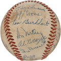 Autographs:Baseballs, 1947 St. Louis Cardinals Team Signed Baseball. ...