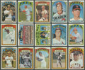 Autographs:Checks, 1972 Topps Baseball Complete Set (787). ...