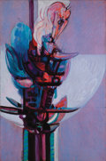 Fine Art - Painting, American:Contemporary   (1950 to present)  , MANUEL ESPINOSA (Argentine, b. 1912). Flor Genesis, 1976. Oil on canvas. 55 x 36 inches (139.7 x 91.4 cm). Signed and da...