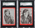 Non-Sport Cards:Lots, 1970 Topps Test Bobby Sherman SGC-Encapsulated Pair (2)....