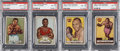"Boxing Cards:General, 1951 Topps ""Ringside"" High Graded PSA Quartet (4). ..."