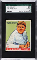 Baseball Cards:Singles (1930-1939), 1933 Goudey Babe Ruth #181 SGC 88 NM/MT 8....