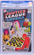 Silver Age (1956-1969):Superhero, Justice League of America #1 (DC, 1960) CGC VG- 3.5 Off-white pages....