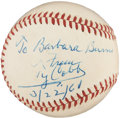 Autographs:Baseballs, 1961 Ty Cobb Single Signed Baseball PSA NM-MT 8....