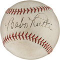 Autographs:Baseballs, Circa 1932 Babe Ruth Single Signed Baseball....