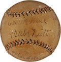 Autographs:Baseballs, 1934 Tour of Japan Team Signed Baseball....