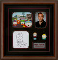 Movie/TV Memorabilia:Autographs and Signed Items, South Park Trey Parker Display....