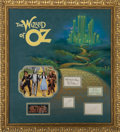 Movie/TV Memorabilia:Autographs and Signed Items, The Wizard of Oz Cast Autographs Display....