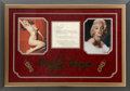 Movie/TV Memorabilia:Autographs and Signed Items, Marilyn Monroe Autograph Display....