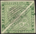 Stamps, 1857, 3p Green (3),...