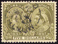 Stamps, $5 Olive Green (65),...