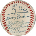 Autographs:Baseballs, 1950's Hall of Famers Multi-Signed Baseball with Cobb, Speaker,Foxx....
