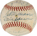 Autographs:Baseballs, Circa 1946 Boston Red Sox Legends Signed Baseball....
