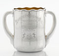 Silver Holloware, American:Loving Cup, AN AMERICAN TWO-HANDLED SILVER AND SILVER GILT LOVING CUP. Tiffany& Co., New York, New York, 1881. Marks: TIFFANY & Co.,...