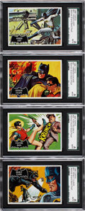 Non-Sport Cards:Lots, 1966 Topps Batman-Black Bat Blank Back Printer's Proofs Group of(4)....