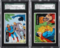 "Non-Sport Cards:Lots, 1968 Topps Test ""Superman In The Jungle"" Blank Back Proofs Pair (2)...."