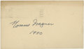 Autographs:Post Cards, 1950 Honus Wagner Signed Government Postcard....