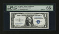 Small Size:Silver Certificates, Fr. 1608 $1 1935A Silver Certificate. PMG Gem Uncirculated 66 EPQ.. ...