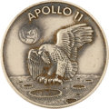 Explorers:Space Exploration, Apollo 11 Flown Silver Robbins Medallion Originally from thePersonal Collection of Mission CapCom Ron Evans, Serial Number15...