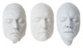Movie/TV Memorabilia:Original Art, Johnny Depp, Dennis Hopper, and Malcolm McDowell Life Masks....(Total: 3 )
