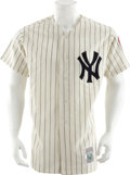 Autographs:Jerseys, Circa 1990 Mickey Mantle No. 6 Signed UDA Jersey....