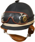 Miscellaneous Collectibles:General, 1978 Steve Cauthen Triple Crown Race Worn Helmet & Goggles....