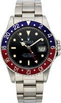 Timepieces:Wristwatch, Rolex Ref. 16750 Steel GMT Master, circa 1985. ...
