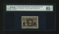 Fractional Currency:Second Issue, Milton 2E25F.6 Experimental 25¢ Second Issue PMG Gem Uncirculated 65 EPQ....